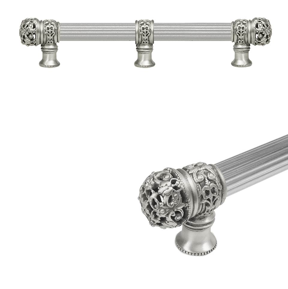Carpe Diem Hardware Juliane Grace 9'' O.C. Approx w/ 5/8'' Reeded Center Long Pull Small Finial w/ Center Brace