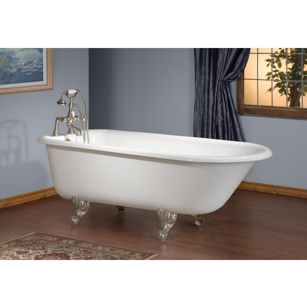 Cheviot Products TRADITIONAL Cast Iron Bathtub with Continuous Rolled Rim
