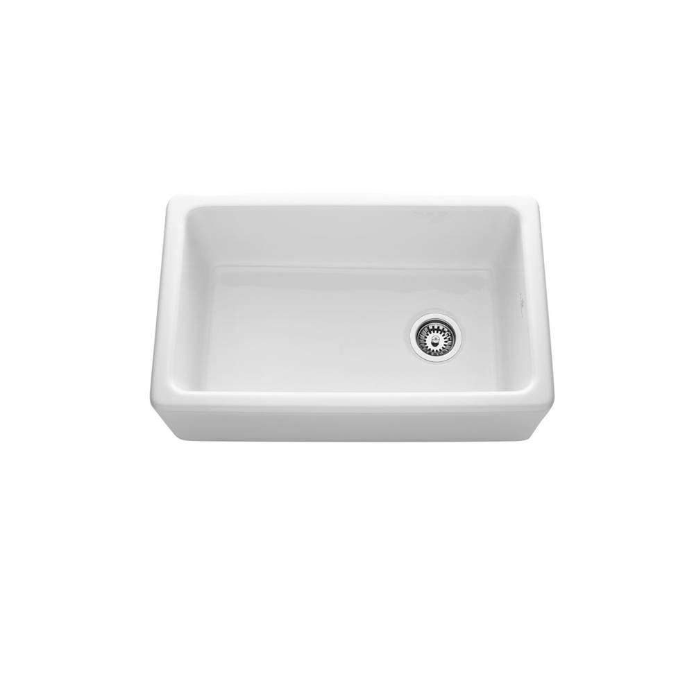 Chambord White 30 Inch Reversible Fireclay Sink