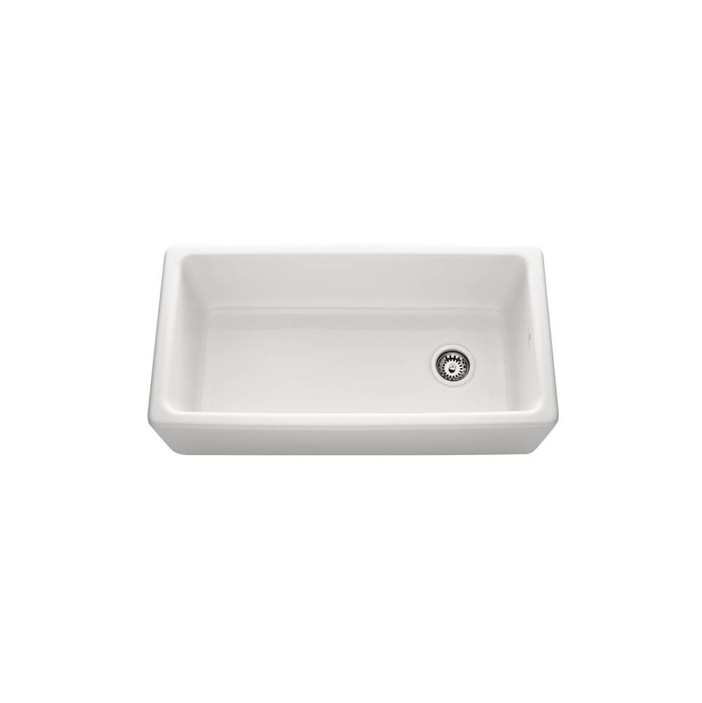 Chambord White 36 Inch Reversible Fireclay Sink