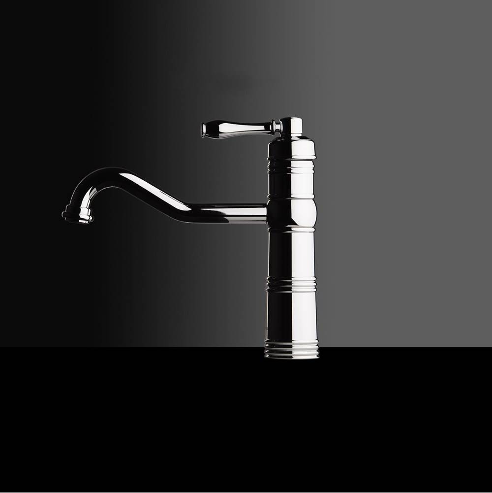 Chambord Single Lever Tap Finished in chrome, 10 1/4'' Height, Spout 9 1/16''.  Height from deck 5 1/2''. Spout Rotates 360. Ceramic Cartride.
