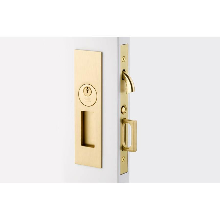 Emtek Privacy, Narrow Modern Rectangular Pocket Door Mortise Lock, US14