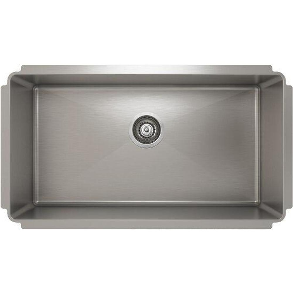 Pro Chef ProInox H75 sink undermount, single 30X16X8