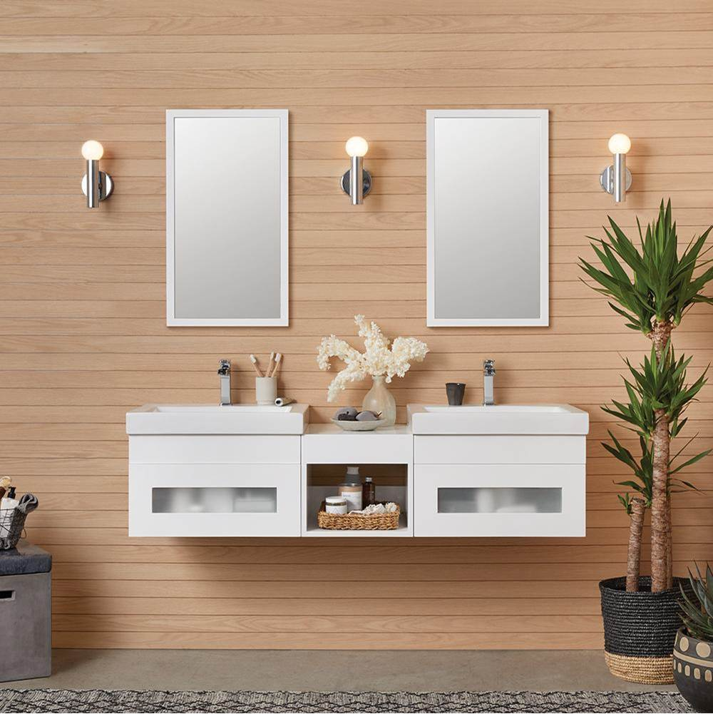 Ronbow 23'' Rebecca Wall Mount Bathroom Vanity Base Cabinet in Glossy White