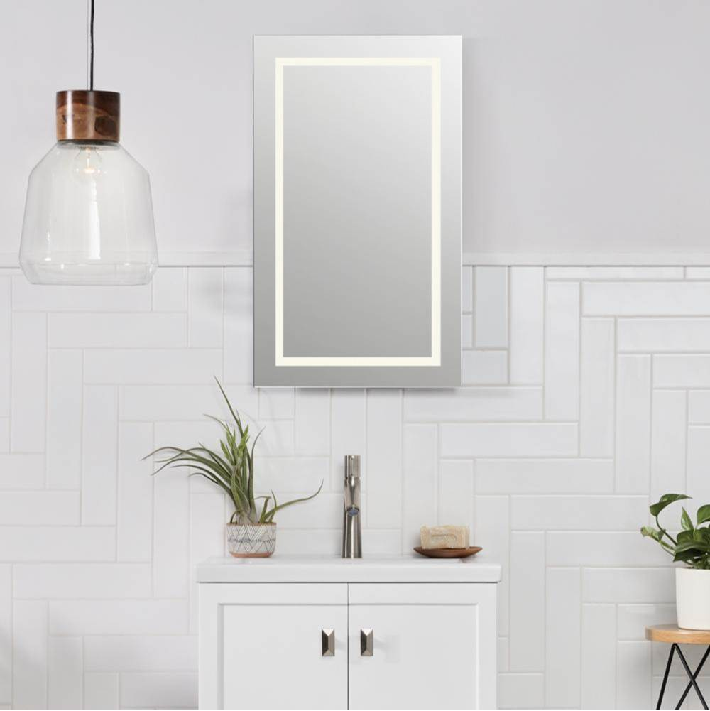 Ronbow 18'' Marquee Rectangular Frameless LED Mirror
