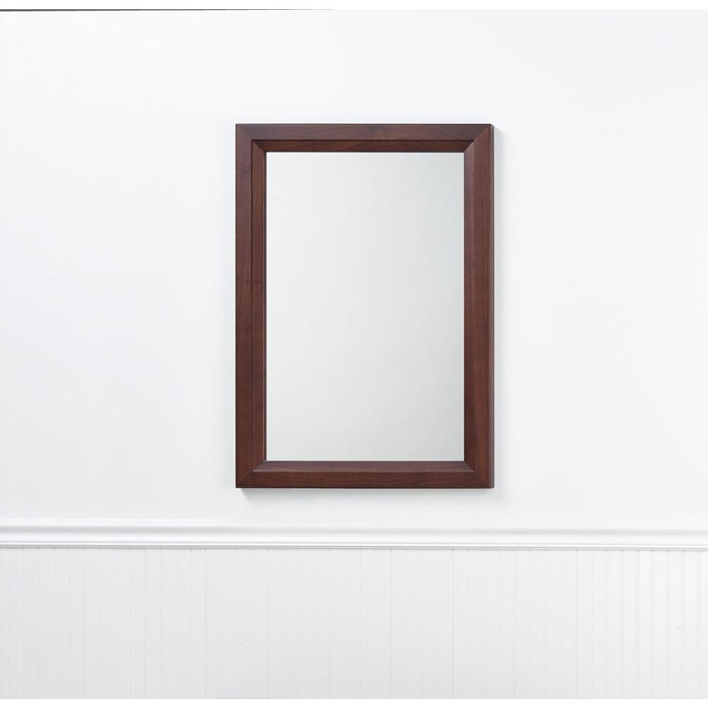 Ronbow 24'' Reuben Transitional  Solid Wood Framed Bathroom Mirror in White