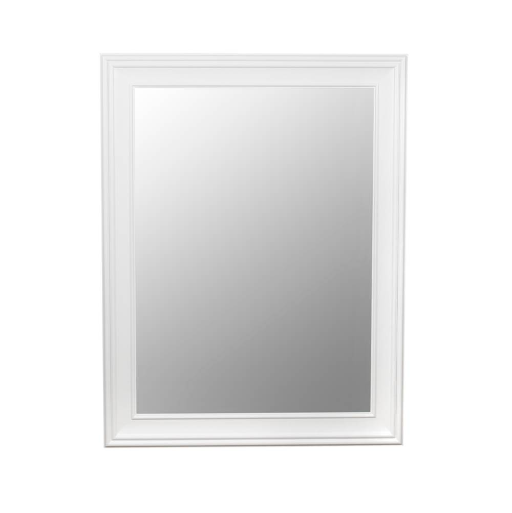 Ronbow 27'' William Traditional Solid Wood Framed Bathroom Mirror in White