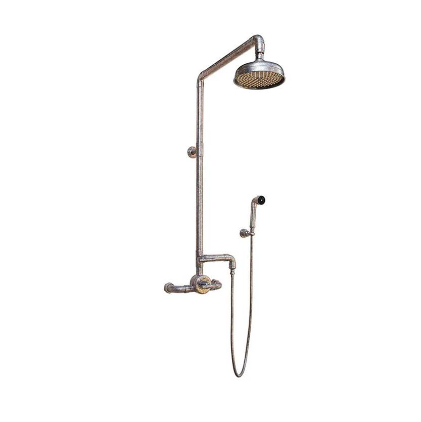 Sonoma Forge Waterbridge Exposed Thermostatic Shower System Model 950 (10-3/4'' Spread, Center To Center) With 8'' Rainhead & Handshower
