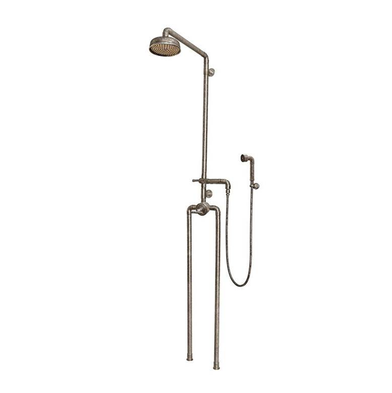 Sonoma Forge Waterbridge Exposed Thermostatic Shower System Model 1150 (10-3/4'' Spread, Center To Center) With 8'' Rainhead & Handshower