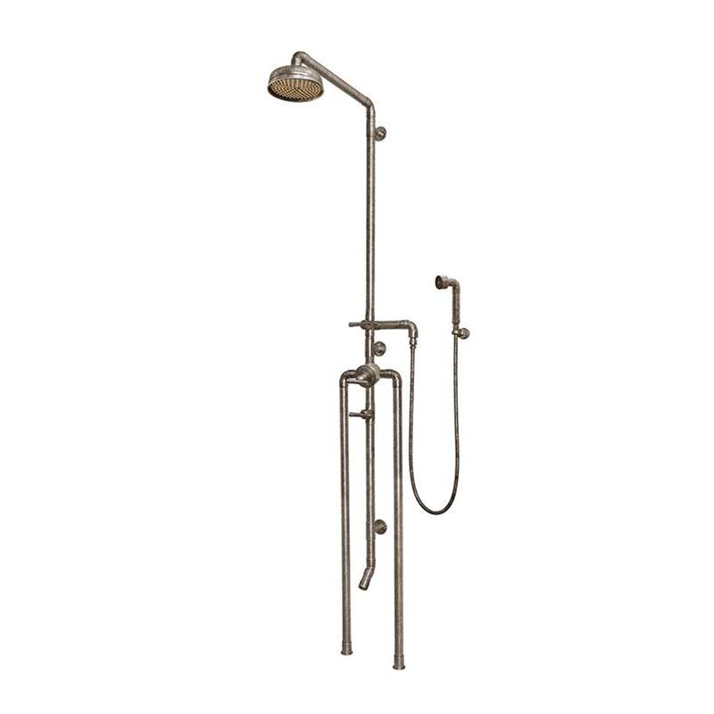 Sonoma Forge Waterbridge Exposed Thermostatic Shower System Model 1180 (10-3/4'' Spread, Center To Center) With 8'' Rainhead, Handshower & Tub Filler