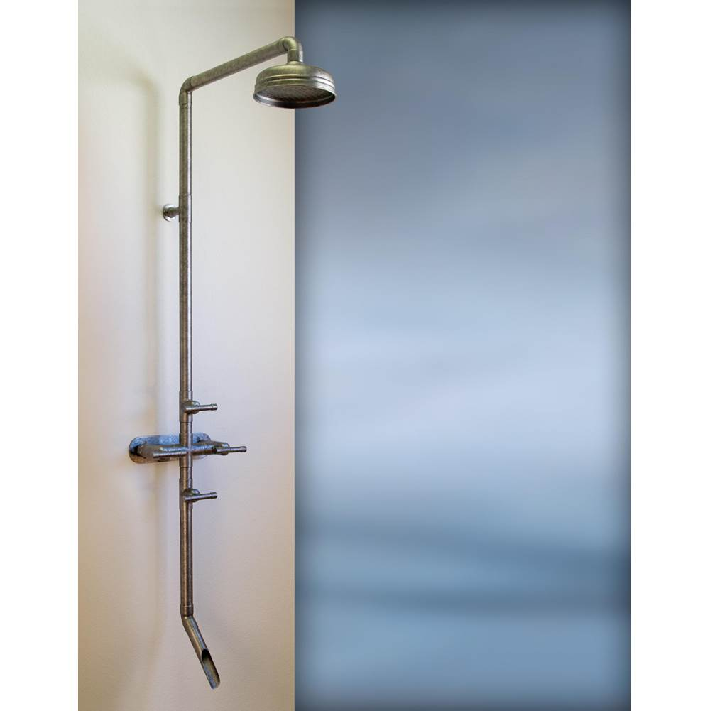 Sonoma Forge Waterbridge Exposed Shower System Model 870 (8'' Spread, Center To Center) With 8'' Rainhead And Tub Filler Includes Remote Anti-Scald Mixing Valve