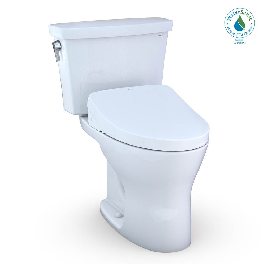 Toto TOTO® Drake® Transitional WASHLET®+ Two-Piece Elongated Dual Flush 1.28 and 0.8 GPF DYNAMAX TORNADO FLUSH® Toilet with Auto Flush S550e …