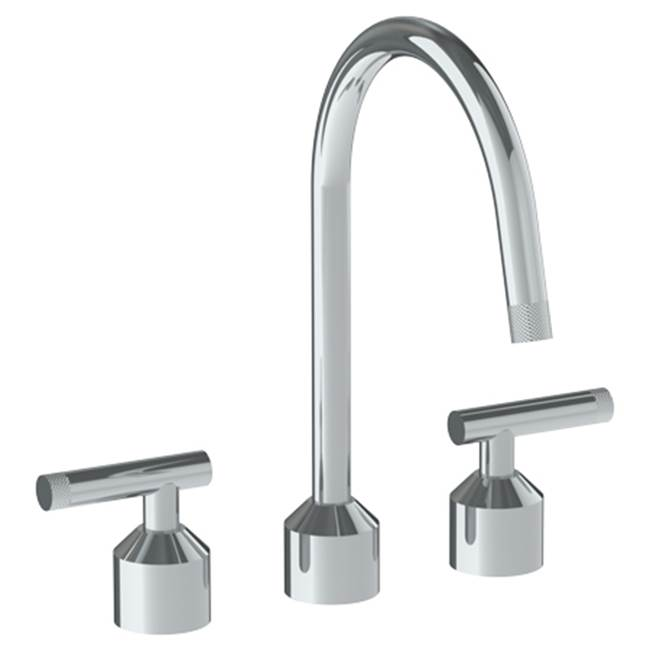 Watermark Deck Mounted 3 Hole Kitchen Set With Gooseneck Spout